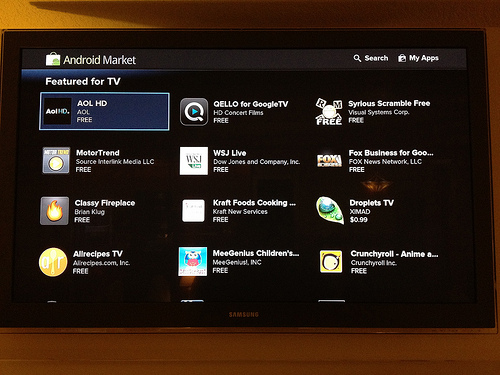 Google apps on GoogleTV